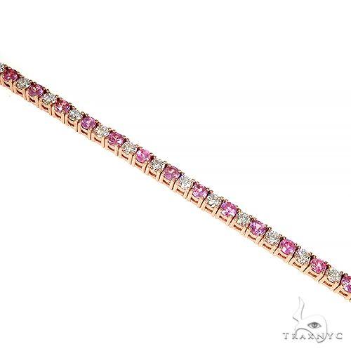 Pink Sapphire Diamond Majesty Tennis Bracelet 66891 Multicolor SAPPHIRE