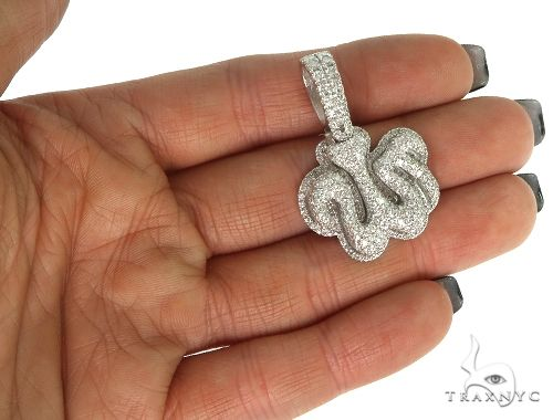 Platinum Diamond Allah Pendant 66167 Metal