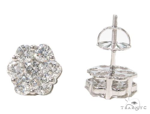 Platinum Diamond Earrings Stone