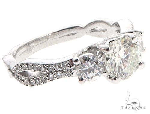 Platinum Diamond Three Stone Ring 64757 Engagement