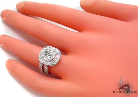 Platium E VS1 Diamond Ring Set Engagement