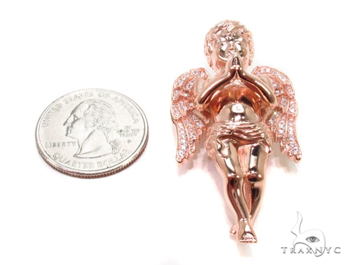 Praying Angel Silver Pendant 36600 Metal