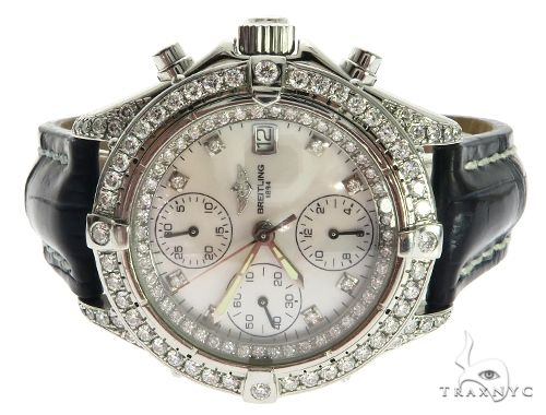 Pre-Owned Breitling Diamond Watch 3.8 Cttw Breitling