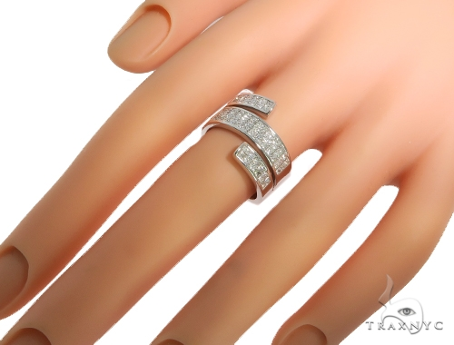 Princess Cut Invisible Diamond Twisted Ring 56902 Anniversary/Fashion