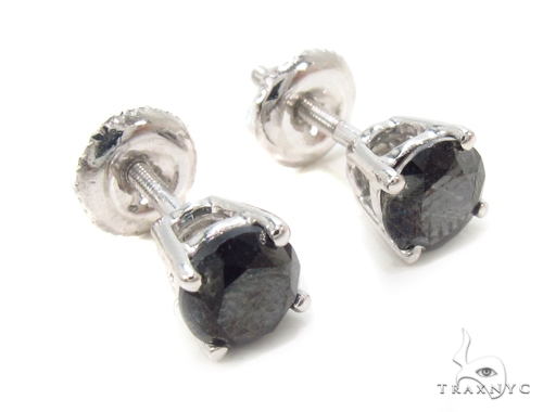 Prong Black Diamond Earrings 36020 Stone