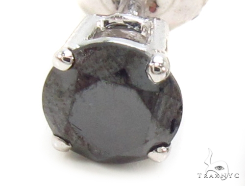 Prong Black Diamond Earrings 36021 Stone