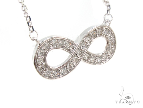 Diamond Ribbon Eternity Necklace 35257 Diamond