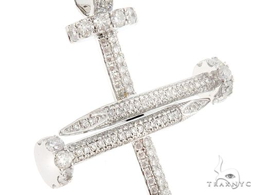 Prong & Pave Diamond Nail Cross Tennis Chain Set 64942 Style