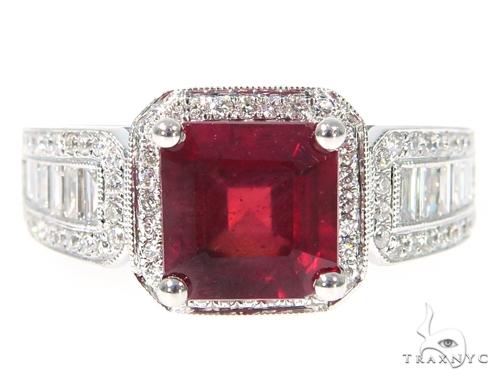 Prong Diamond Ruby Gemstone Ring 44839 Anniversary/Fashion