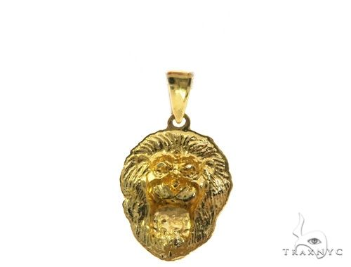TraxNYC Black Diamond Lion Pendant 61605 Metal