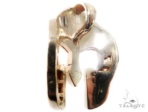 Spartan Mask Diamond Pendant Metal