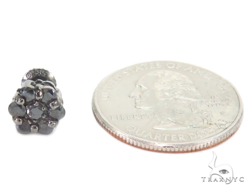 Prong Black Diamond Cluster Earrings 43889 Style