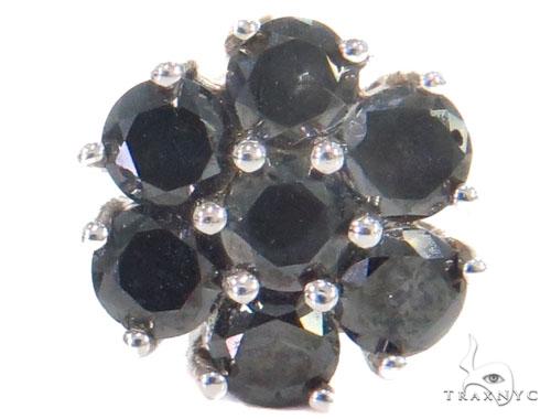 Prong Black Diamond Cluster Earrings 43891 Style