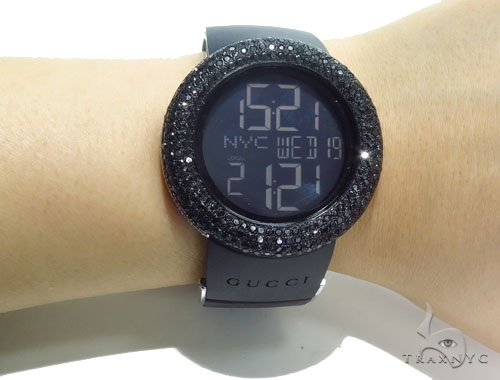 Prong Black Diamond Gucci Watch 41057 Gucci