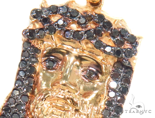 Prong Black Diamond Jesus Pendant 44491 Style