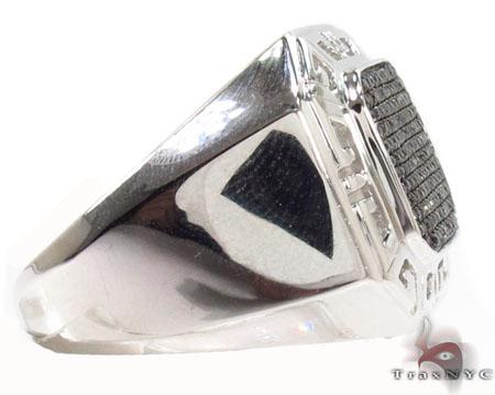 Prong Black Diamond Ring 32244 Metal