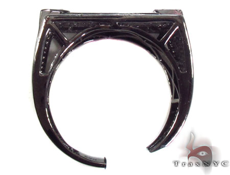 Prong Black Diamond Ring 32848 Metal