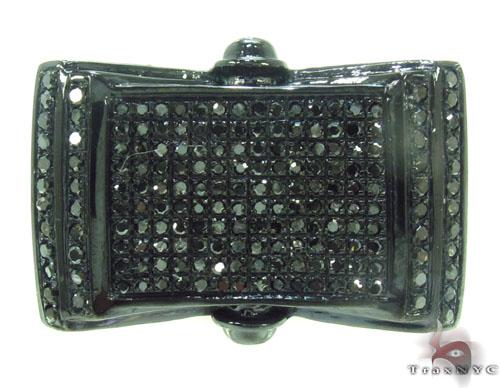 Prong Black Diamond Ring 34708 Stone