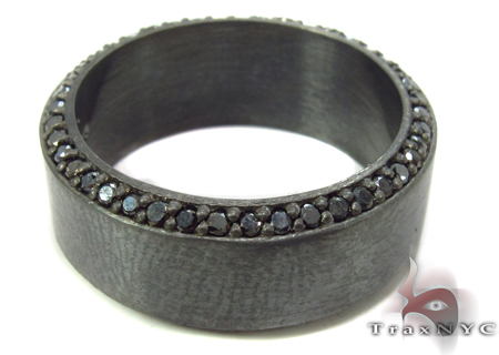 Prong Black Diamond Silver Ring 31700 Metal