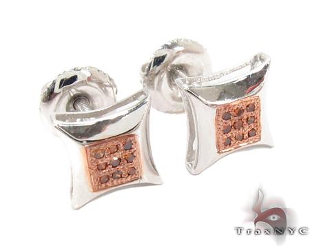 Prong Red Diamond Earrings 32307 Metal