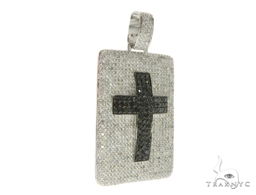 Prong Cross Crucifix Dog Tag Pendant 58539 Style