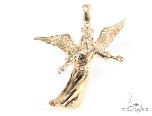 Prong Diamond Angel Pendant 45170 Metal