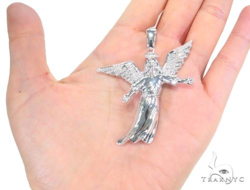 Prong Diamond Angel Pendant 45172 Metal