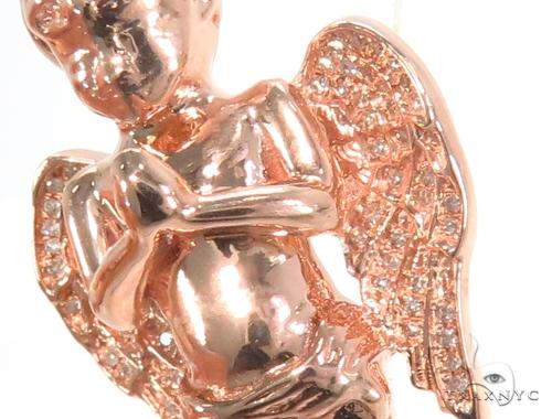 Prong Diamond Angel Pendant 45183 Metal