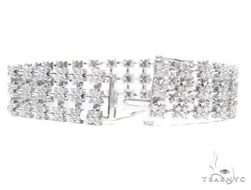 Prong Diamond & Gold Bracelet 41875 Diamond