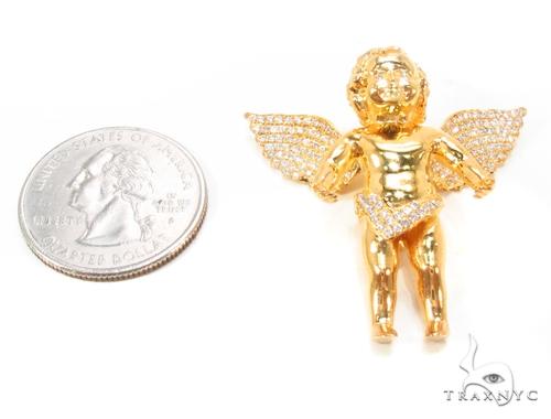 Prong Diamond Angel Pendant 36385 Metal