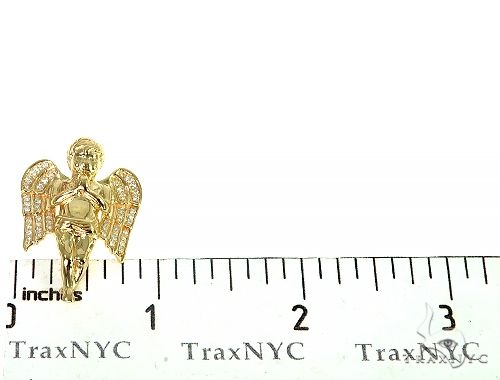 Prong Diamond Angel Pendant 36952 Metal