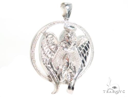 Prong Diamond Angel Pendant 45124 Metal