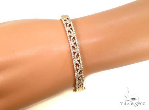 Prong Diamond Bangle Bracelet 37374 Bangle