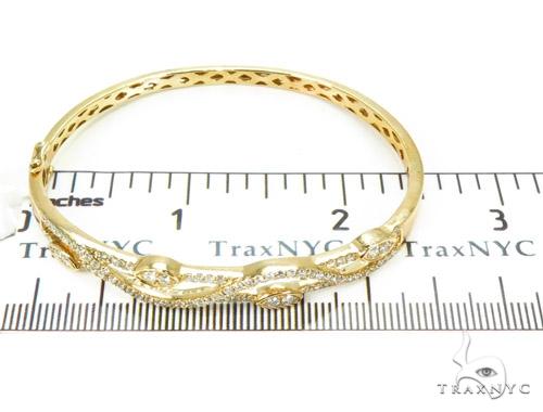 Yellow Gold Prong Bangle Diamond Bracelet 37383 Bangle