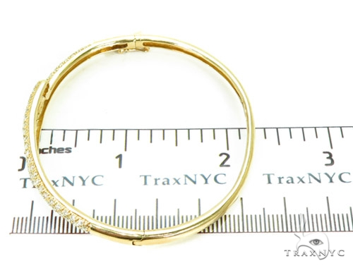 Prong Diamond Bangle Bracelet 37389 Bangle