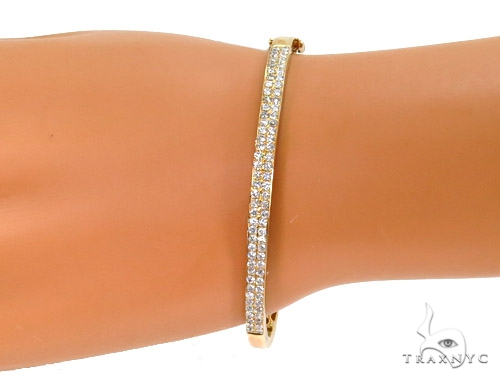 Prong Diamond Bangle Bracelet 37394 Bangle