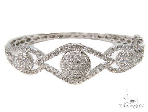 Prong Diamond Bangle Bracelet 37449 Bangle