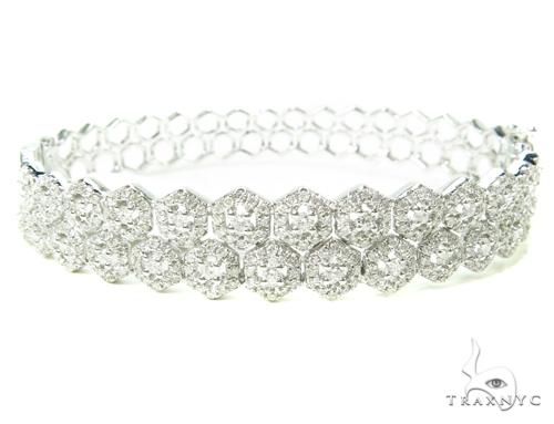 Prong Diamond Bangle Bracelet 38002 Bangle
