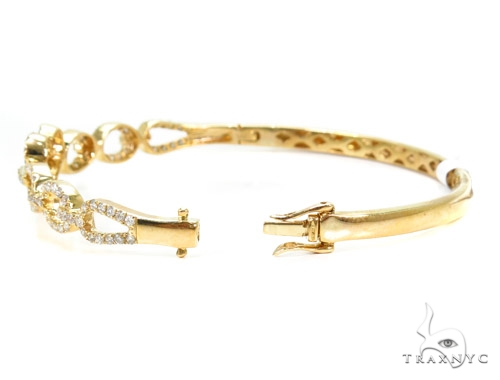 Prong Diamond Bangle Heart Bracelet 37388 Bangle