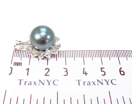 Prong Diamond Black Pearl Pendant 32066 Stone