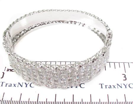 Prong Diamond Bracelet 32073 Bangle