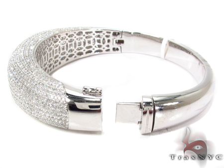 Prong Diamond Bracelet 32077 Bangle