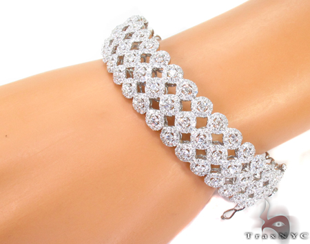 Prong Diamond Bracelet 32076 Bangle