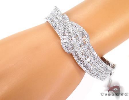Prong Diamond Bracelet 32079 Bangle