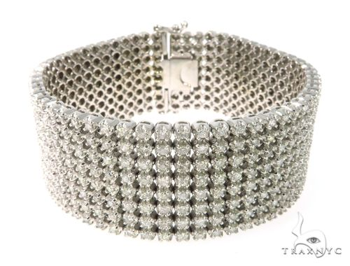 Prong Diamond Bracelet 63784 Diamond