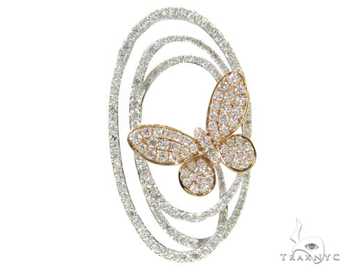 Prong Diamond Butterfly Pendant 38019 Stone