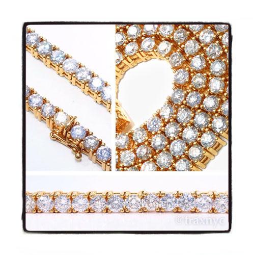 Prong Diamond Chain 30 Inches 7mm 173.9 Grams 42660 Diamond