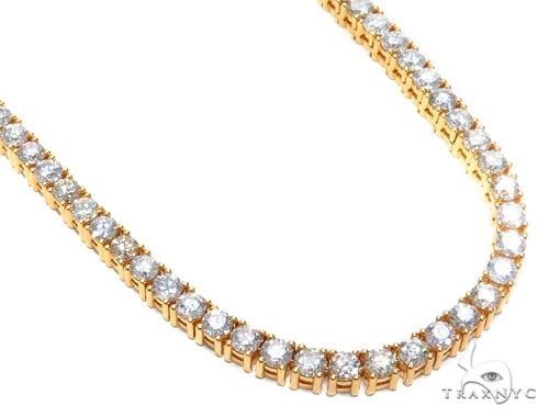 Prong Diamond Chain 30 Inches 7mm 173.9 Grams 42660 Diamond