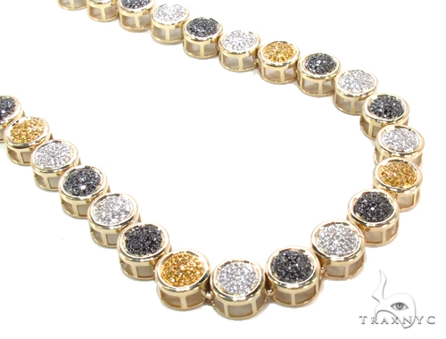 Multicolor Diamond Chain 32 Inches 8mm 57.6 Grams Diamond