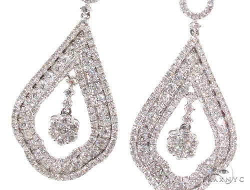 Prong Diamond Chandelier Earrings 36098 Style